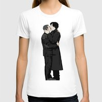 johnlock T-shirts featuring Kissing Sherlock and John by br0-harry