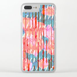 You win or you die Clear iPhone Case