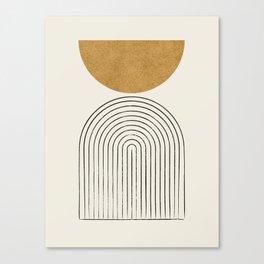Arch Balance Gold Canvas Print