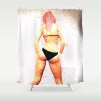hair Shower Curtains featuring Hair by Brian Raggatt
