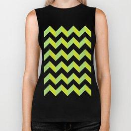 green pattern geometric Biker Tank