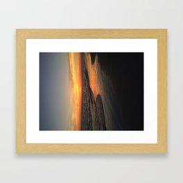 Sunset on edge Framed Art Print