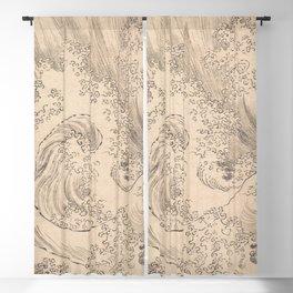 Wave by Katsushika Hokusai 1760–1849, Japanese Blackout Curtain