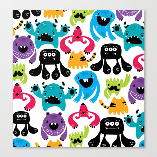Monster pattern Canvas Print