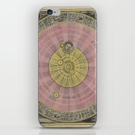Celestial Planes as According to Copernicus 1708 iPhone Skin