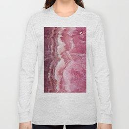 Rosey Rose Quartz Crystal Long Sleeve T-shirt
