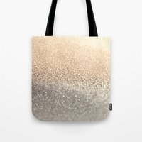 letters Tote Bags featuring  GOLD by Monika Strigel®
