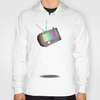 tv Hoodies featuring tv by Nate Galbraith