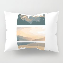 Minimalistic Mountains and Skies Pillow Sham