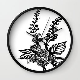 Black Cohosh Wall Clock