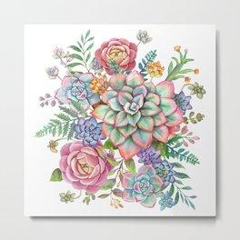 Watercolor Succulent #40 Metal Print