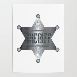Sheriff Badge Poster