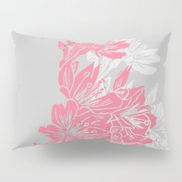 Cherry Blossom Grey Block Print Pillow Sham