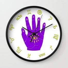Zodiac Hand Eye Hamsa Wall Clock