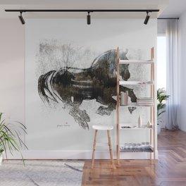Horse (Winter Canter) Wall Mural