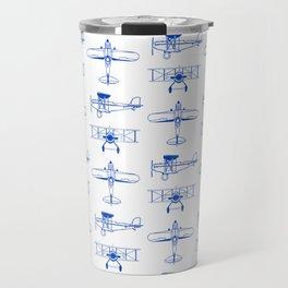 Blue Biplanes Travel Mug