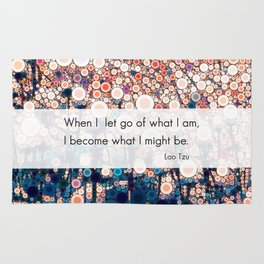 Daily Meditation Quote Rug