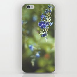 Blue flowers iPhone Skin