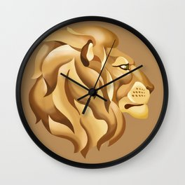Decorative lion head profile Wall Clock