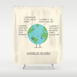 Wonders of the world Shower Curtain
