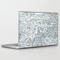 cigarette Laptop & iPad Skins featuring Cigarette Smoke by Katie Kephart