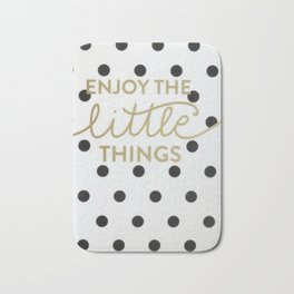 Enjoy the Little Things Saying Bath Mat