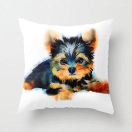 Yorki Pup Throw Pillow