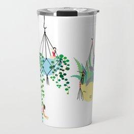 2 plants in hangers Travel Mug