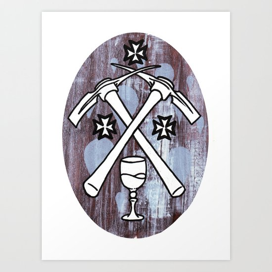 PIck your Axe Art Print
