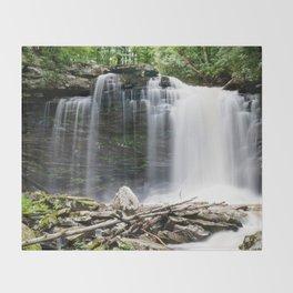 The Falls of Hills Creek Throw Blanket
