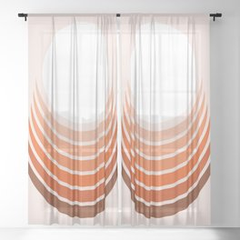 Red Rock Crescent Sheer Curtain