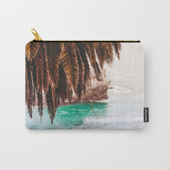 vintage ocean #palm tree Carry-All Pouch