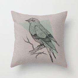 Bird Fascination Throw Pillow