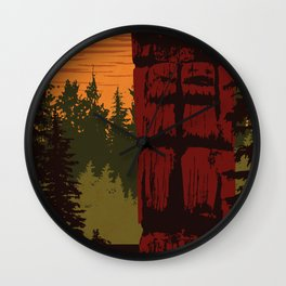 Gwaii Haanas National Park Reserve, National Marine Conservation Area Reserve & Haida Heritage Site Wall Clock