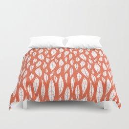 Quail Feathers (Poppy) Duvet Cover