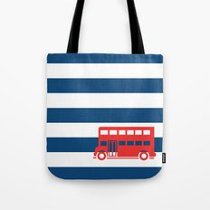 British Double Decker Bus Tote Bag