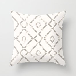 Modern Boho Ogee in Cream Throw Pillow
