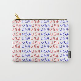 usa 4-america,united states of america,us,stars and strips,patriotic,patriot,united states,new york Carry-All Pouch