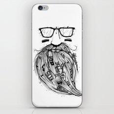 Beard Me Some Music (Black & White) iPhone & iPod Skin