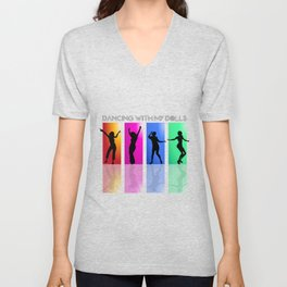 Dancing with my dolls Unisex V-Neck