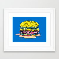 burger Framed Art Prints featuring Burger by Maxime Roy
