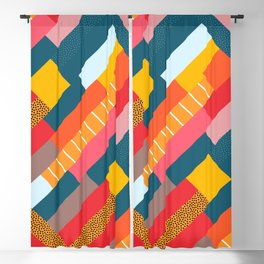 Colorful blocks Blackout Curtain