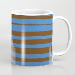 Brown & Blue Stripes  Coffee Mug