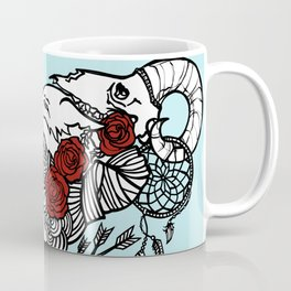 Warrior with Flowers in Her Hair Coffee Mug