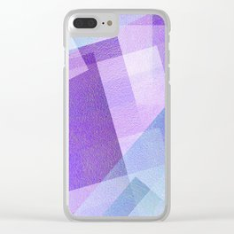 Beautiful Blue and Purple - Digital Geometric Texture Clear iPhone Case