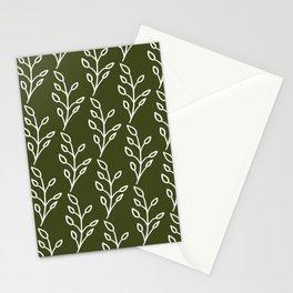 Feeling of lightness Pattern- Pine needle green Stationery Cards