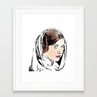 princess leia Framed Art Prints featuring Leia by Hey!Roger
