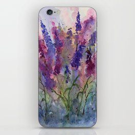 Delphinium Blues, from my original watercolor iPhone Skin