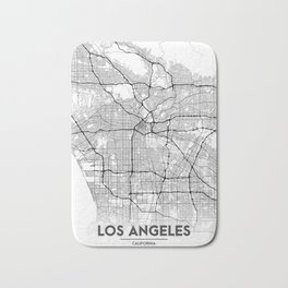 Minimal City Maps - Map Of Los Angeles, California, United States Bath Mat