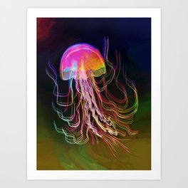 Jellyfish Smell of Summer Art Print